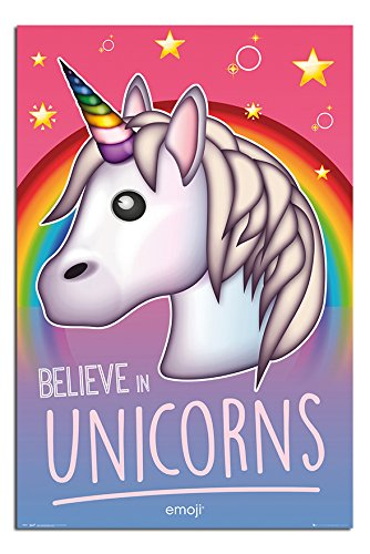 Emoji Believe In Unicorns Poster Satin Matt Laminated - 91.5