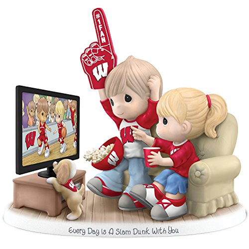 Figurine: Precious Moments Every Day Is A Slam Dunk With You Wisconsin Badgers Figurine by The Hamilton Collection