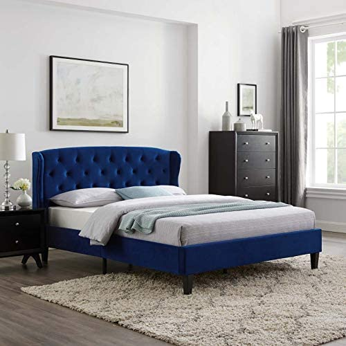 Modway Penelope Tufted Performance Velvet Wingback Platform Queen Bed