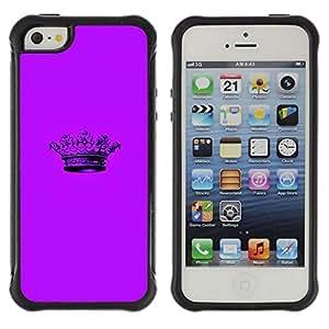 "Pulsar iFace Series Tpu silicona Carcasa Funda Case para Apple iPhone SE / iPhone 5 / iPhone 5S , Corona púrpura minimalista Pen"""