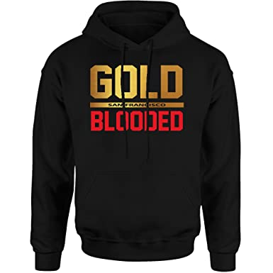 38961e8f2 Amazon.com  San Francisco Gold Blooded Hoodie Sweatshirt  Clothing