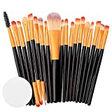 Kasien Makeup Brush, 20PCS Eyeshadow Brushes Set Foundation Cosmetic Eyebrow Eyeshadow Brush Makeup Brush Sets Tool Make-up Toiletry Kit (C)