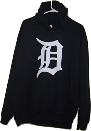 Old English D White Logo on Pull Over Black Hoodie