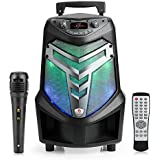 Portable Bluetooth K81 Public Square Dancing Entertainment Speaker System with Lights, Recording Ability, MP3/USB/TF/FM Radio/Karaoke Function