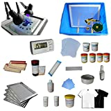 4 Color 2 Station Screen Printing Kit Press Full