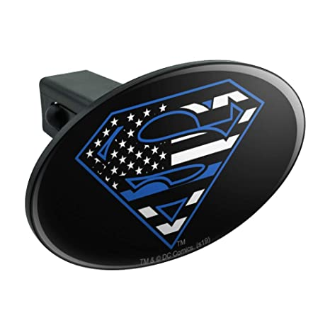 Graphics and More Superman New 52 Shield Logo Tow Trailer Hitch Cover Plug Insert