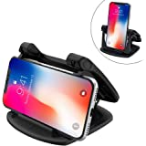 Cell Phone Holder for Car, 360 Rotate Strong Sticky Gel Pad Dashboard Car Mount Universal for all Smartphones Compatible iPhone Xs/Xs Max XR X 6S 7 8 Plus Samsung Galaxy Note 9 S8/S9 Pixel Vehicle GPS