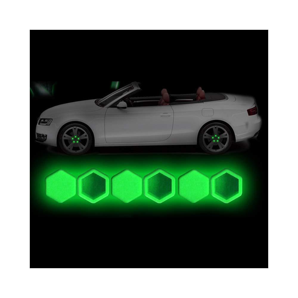 LSLMLLL 20 st/ücke Silikagel Gr/üne Radmuttern Abdeckungen Schutzkappen Auto Styling Hub Schraubenschutz 17# 19# 21#