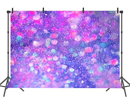Purple Glitter Backgrounds - Colorful Spots Photography Backdrop (Not Glitter) Baby Photo Background Photo Booth Props 7x5FT