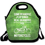 Staropor Some Grandpa's Play Bingo Real Grandpa's Ride Motorcycles Large & Thick Insulated Tote LunchBags With Containers Lunch Bag For Men Women Kids Enjoy You Lunch