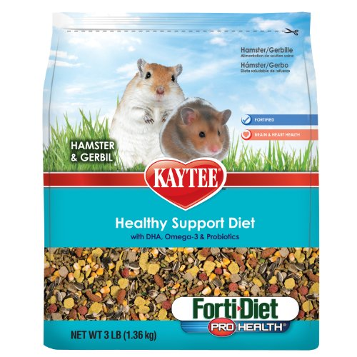 Kaytee Forti Diet Pro Health Food for Hamster/Gerbil, 3-Pound, My Pet Supplies