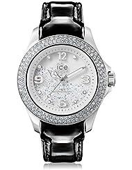 Ice Crystal watch Women Leather Silver CY.SRB.U.L.15