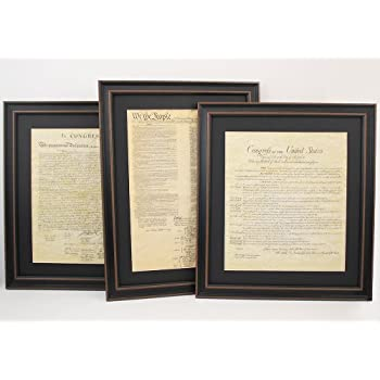 Amazon constitution bill of rights and declaration of constitution bill of rights and declaration of independence framed set of 3 with gumiabroncs Choice Image