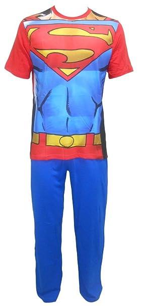 Superman - Pijama - relaxed - Manga larga - para hombre turquesa S