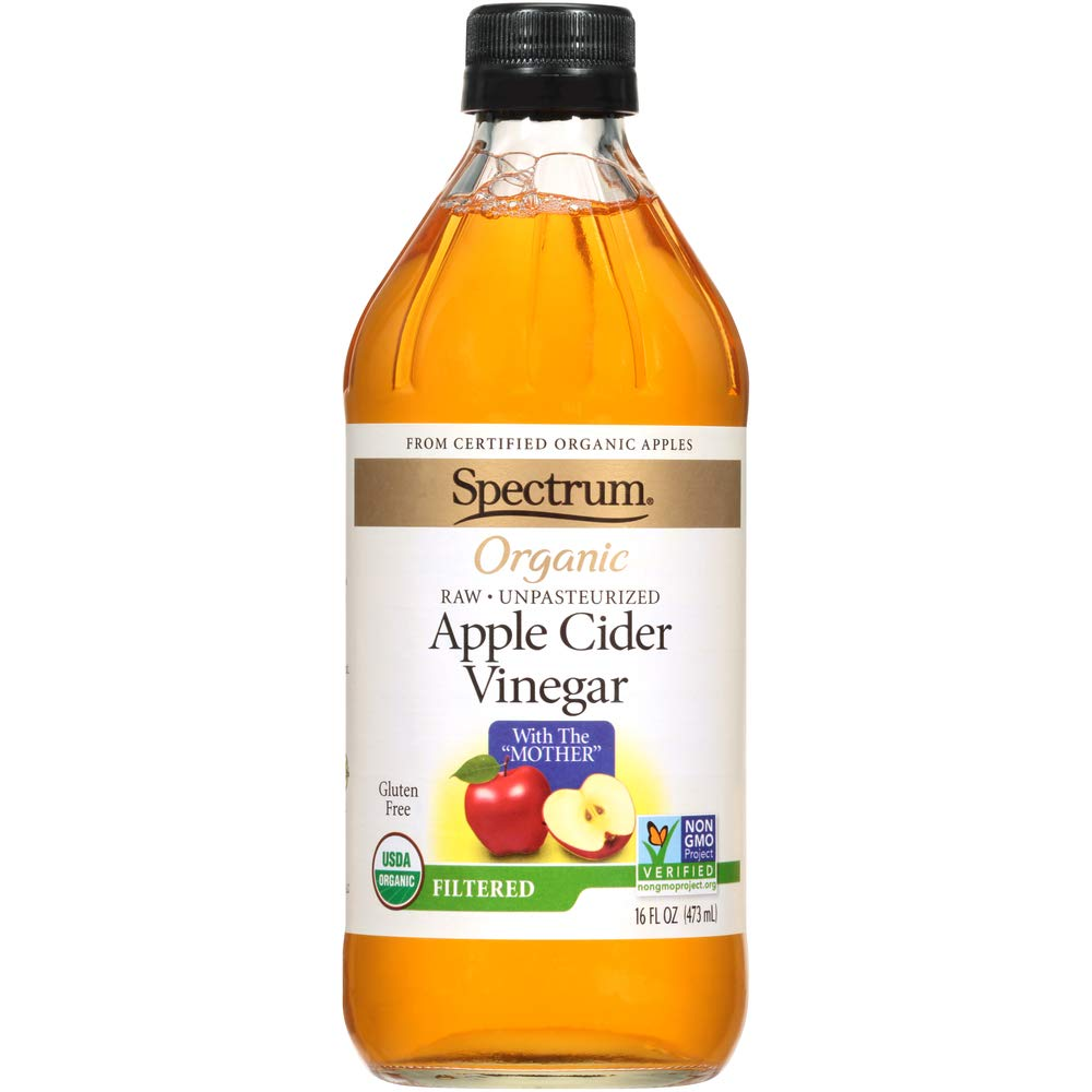 Spectrum, Filtered Organic Apple Cider Vinegar, 16 oz, Pack of 1.