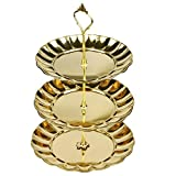 3 Tier Fruits Cakes Desserts Plate Stand Cupcake Stand Tea Party Serving Platter Gold