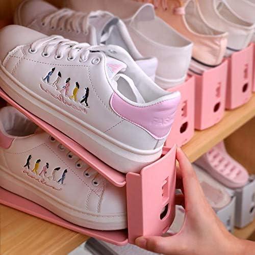 Wopeite Organizador Zapatos,Soporte Ajustable de Zapatos,Ahorrar Espacio Soporte de Calzado, Ayudante de Almacenamiento de Zapatos,8pcs,Pink: Amazon.es: Hogar