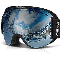 Tomshoo Unisex OTG Dustproof Anti-Fog Ski Goggles