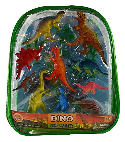 (Dinosaur Explorer Backpack with Dino Figures - 15 Figures)