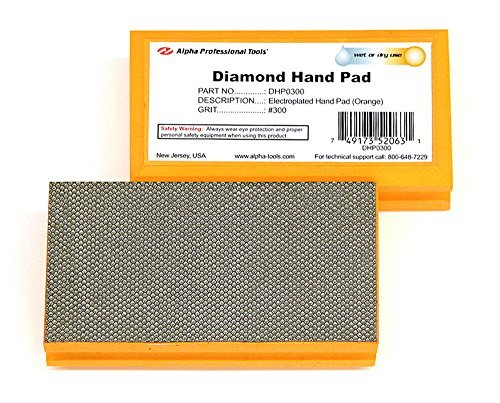 Alpha Diamond Hand Polishing Pad - (1) 300 Grit Pad by Alpha Professional Tools