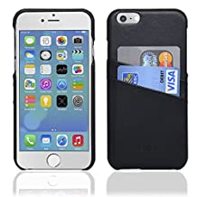 NAVOR® Genuine Leather Cards Pocket Case for iPhone 6 / 6S [4.7 Inch]