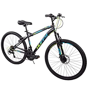 Huffy 26″ Nighthawk Men's Mountain Bike, Black Matte 18 Speed