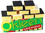 Kitchen Sponge for Household Cleaning. Two Types of Multi-Use Scrub Sponges. Size 4.3x2.8x1.4 inch