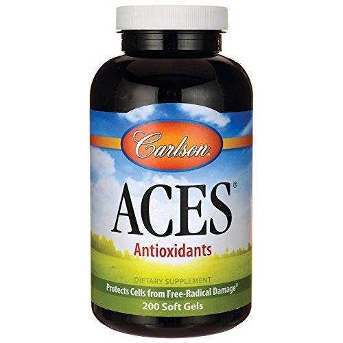 Aces 200 Softgels (Carlson Aces Antioxidant Formula, 200 Softgels)