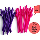 Party Drinking Straws (Pack of 25) For Bachelorette Party or Girls Night Out - 20CM Length - Extremely detailed - Full Pack of Bachelorette Straws