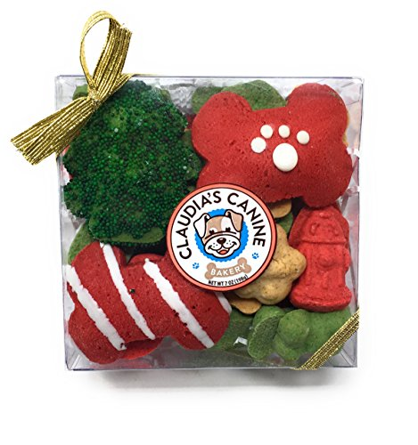 Gourmet Christmas Dog Treat Gift Box (Max's Holiday Munch) (Gourmet Cookies Dipped)