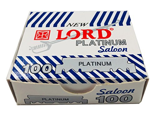 Lord Platinum Single Edge Razor Blades, 100 blades