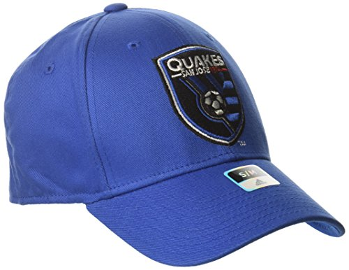 MLS San Jose Earthquakes Men's Basic Structured Flex Cap, Small/Medium, Blue