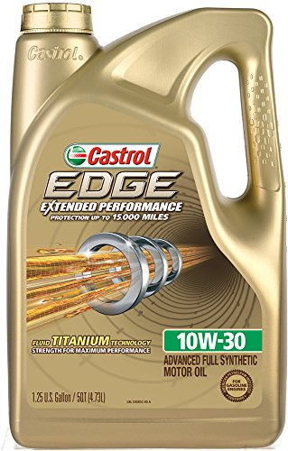 Castrol 03085 EDGE Extended Performance 10W-30 Advanced Full Synthetic Motor Oil, 5 Quart