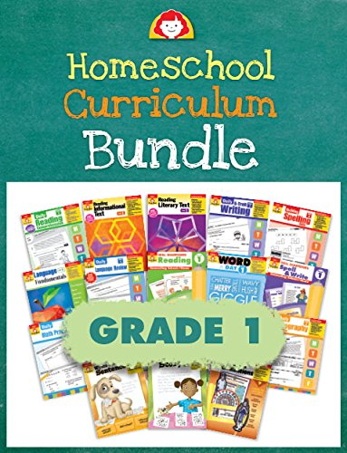 Evan-Moor Homeschool Teaching Resource Curriculum Bundle, Grade 1 Complete Set - 18 Supplemental Workbooks - includes Reading, Writing, Vocabulary, ... Amazon Title - Evan-Moor Homeschool Cur ()