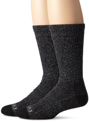 - Dickies Men's Steel Toe Moisture Control Crew Socks (2 & 4 Packs), Black Marl), Shoe Size: 6-12