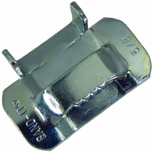 BAND-IT C35599 Galvanized Carbon Steel Ear-Lokt Buckle, 5/8 Width, 100 per Box by Band-It
