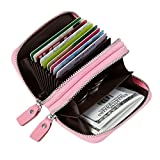 Women's RFID Blocking Credit Card holder Leather Compact Accordion Wallet