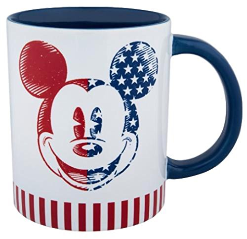 - Disney Parks Exclusive - Mickey Americana Laugh and Love Stoneware Mug
