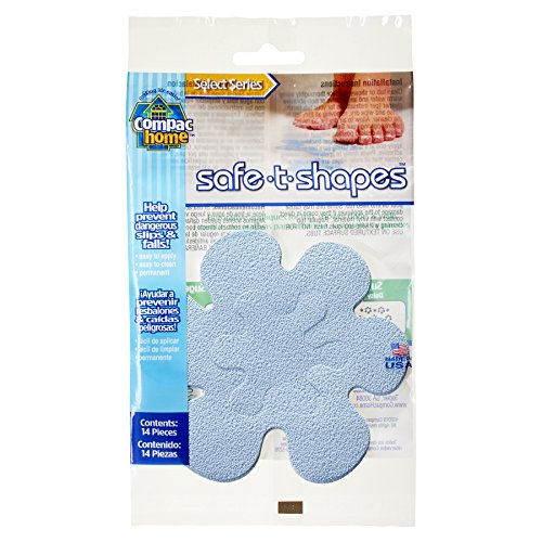 Compac Select Safe-T-Shapes Bathtub Decals, Blue Daisy, 14 Count - Non Slip Appliques