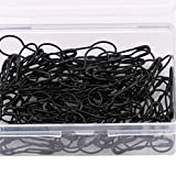 LIXIAQ1 100 Pieces Bulb Pins Gourd Safety Pins Metal Calabash Pins with Storage Box for DIY Craft Making and Clothing,black