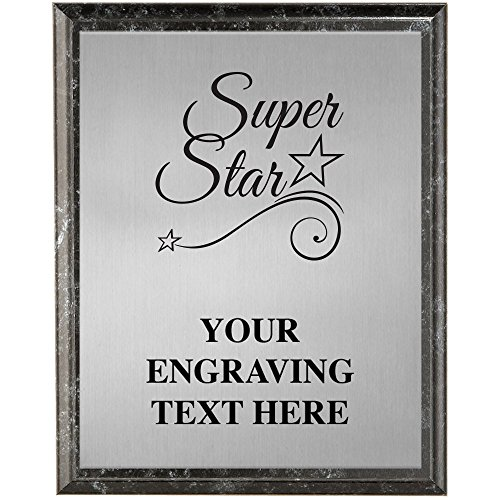 (Crown Awards Corporate Plaques - 5 x 7 Super Star Etched Recognition Trophy Plaque Award Prime)