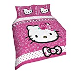 Hello Kitty Childrens Girls Sommerwind Reversible Duvet Cover Bedding Set (Double) (Pink)