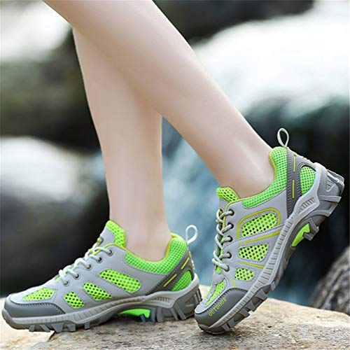Verano Adultos Verde Transpirable Primavera Casuales Parejas Zapatillas Zapatos para Unisex Fluorescente Malla CwtqTOU