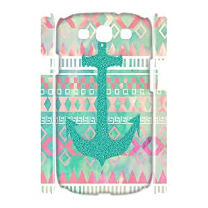 Qxhu Anchor Aztec Hardshell Durable Phone Case for Samsung Galaxy S3 I9300 3D case