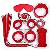 Yiwa 7Pcs/Set Sex Game Toy Kit Adult Bondage Sex Fetish Tool SM Cosplay Fantasy Plush Adjustable Restrain Kit