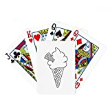 beatChong Black Line Cream Soft Cones Ice Cream Poker Playing Card Tabletop Board Game Gift