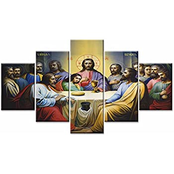 Jesus the last supper wall art canvas prints for Dining room wall art amazon