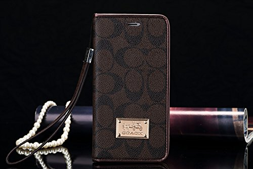 calbeebee iPhone 7Plus 8Plus - US Fast Deliver Guarantee FBA- New Elegant Luxury PU Leather Wallet Style Flip Cover Case For Apple iPhone 7 / 8 PLUS ONLY (iPhone7/8Plus Brown CO) (Coach Iphone Case)