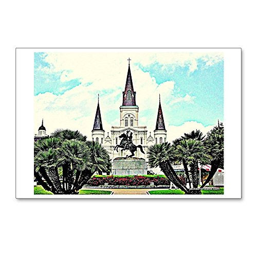 CafePress - Jackson Square #1 - Postcards (Package of 8), 6