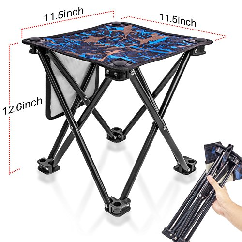 Small Folding Stool Portable, Mini Step Slacker Stool Camping Folding Chairs Outdoor, Collapsible Camp Stool, Perfect for Fishing Camp Traveling Hiking Beach Garden BBQ Lightwight Waterproof Stool by Aiwoxing